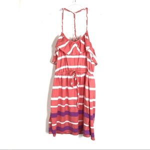 Aeropostale | Striped Salmon Summer Dress